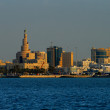 A skyline view of old town of Doha, Qatar — Stock Photo