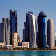 Stock Photo: West Bay City skyline of Doha, Qatar