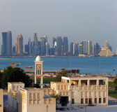 Contrasting style of architecture of Doha, Qatar — Stock Photo