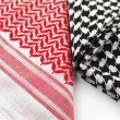 Stock Photo: Ghutrah also known as Keffiyeh is name given to Arabic scarf-like headdress