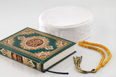 "The Quran literally meaning ""the recitation"", is the central religious text of Islam — Stock Photo"