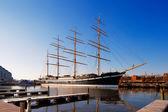 The square-rigged tall sailing ship Mosholu, in Philadelphia — Stock Photo