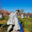The Korean War Veterans Memorial in Washington DC, USA — Stock Photo
