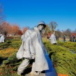 Stock Photo: The Korean War Veterans Memorial in Washington DC, USA