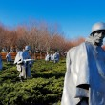 The Korean War Veterans Memorial in Washington DC, USA — Stock Photo