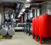 Mekaniska och elektriska anläggningar rum — Stockfoto