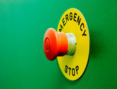 Emergency stop button — Stock Photo