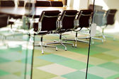 Contemporary boardroom is ready for the next board meeting — Stock Photo
