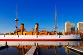 The protected cruiser USS Olympia, in Philadelphia — Stock Photo