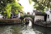 周庄在中国被称为东方的威尼斯 — 图库照片