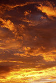 Sunset clouds — Stock Photo