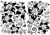 Illustrazioni floreali — Vettoriale Stock