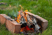 Bright fire — Stock Photo