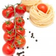 Paste, pepper and fresh tomatoes — Stock Photo