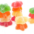 Stock Photo: Yellow, red, orange and green jelly