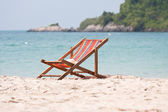 Deck chair on beach — Photo