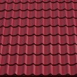 The roof of red tiles laid out — Stock Photo