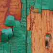 Decrepit green Old Wood Background — Stock Photo
