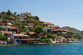 Alanya city hill, sea coast, Turkey — Stock Photo