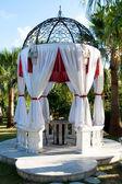 Wedding gazebo in the garden — Stock Photo