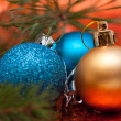 Stock Photo: Colorful collection of Christmas Balls