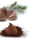 Chocolate truffle gift for the new year — Stock Photo