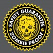 Zombie Proof, Safety Guarantee Seal - Stok Vektör