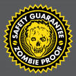 Zombie Proof, Safety Guarantee Seal — Stockvectorbeeld