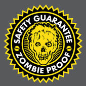Zombie Proof, Safety Guarantee Seal — Stock Vector