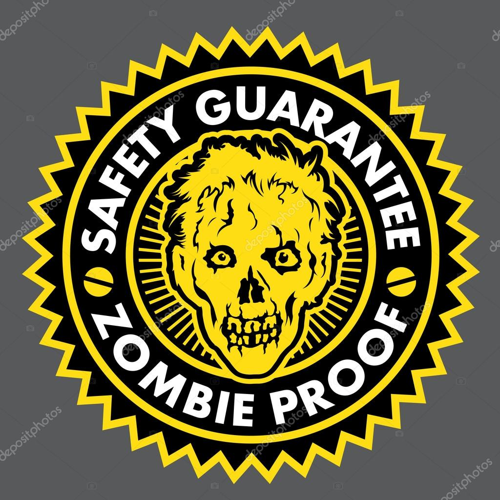 Guaranty seal certifying the proof in Zombie products.  Stock Vector #13644990