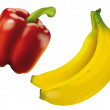 Paprika & Bananas - Stock Photo