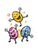 Happy Easter eggs Illustration — Stock Photo