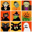 Halloween Character Avatars — Stock Vector #13702494