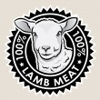 Stock Vector: Lamb Meat 100%