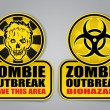 Stock Vector: Zombie Outbreak Signs
