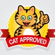 Stock Vector: Cat Approved Seal