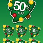 Christmas tree discount vector sticker — Stock Vector #13702508