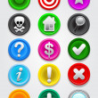 Gps map Icons / Buttons Collection - Vettoriali Stock
