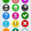 Gps map Icons / Buttons Collection - Stock Vector