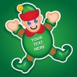 Royalty-Free Stock Vector Image: Santa's Elf vector sticker
