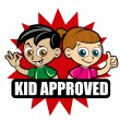 Kid Approved Seal — Vector de stock