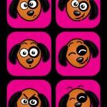 Dog facial expressions — Stock Vector #13703464