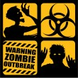 Zombie Outbreak Icons — Stock Vector