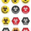 Biohazard Stickers / Labels — Stock Vector