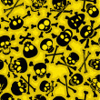 ストックベクタ: Skull & Crossbones Seamless Pattern