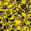 Stockvektor : Skull & Crossbones Seamless Pattern