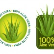 Stock Vector: 100% Aloe Vera Seals in vectors