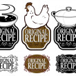 Royalty-Free Stock Vector Image: Original Recipe Seals Collection