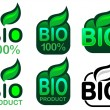 Stock Vector: Bio Product and Bio 100% Icon / Seal