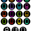 Royalty-Free Stock Vector Image: Smartphones Icons in vivid colors